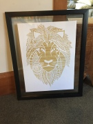 $200 NZD unframed A3 White with timber backing