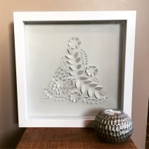 $50 NZD unframed 34 x 34 cm Pop up Botanical Triangle
