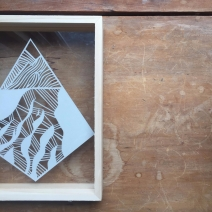 $50 NZD unframed 5 x 7 Braided Rivers Paper Cut