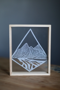 Braided rivers papercut
