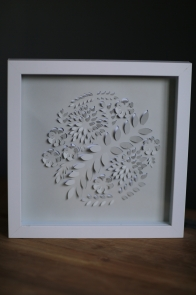 $50 NZD unframed 34 x 34 cm Pop up Botanical Circle