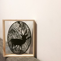 $100 NZD unframed Roughly A4 Deer in the leaves